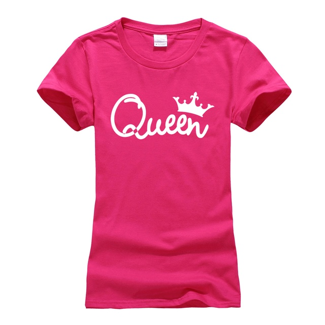 casual hip hop streetwear T-Shirt 2019 Summer high quality cotton short sleeve Tee Shirts femme cute queen letters print T Shirt