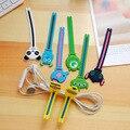 100pcs/lot Cute Rilakkuma Giraffe Cable Winder Clip Earphone Winder Silicone Cable Cord Holder for Earphone Organize Free ship