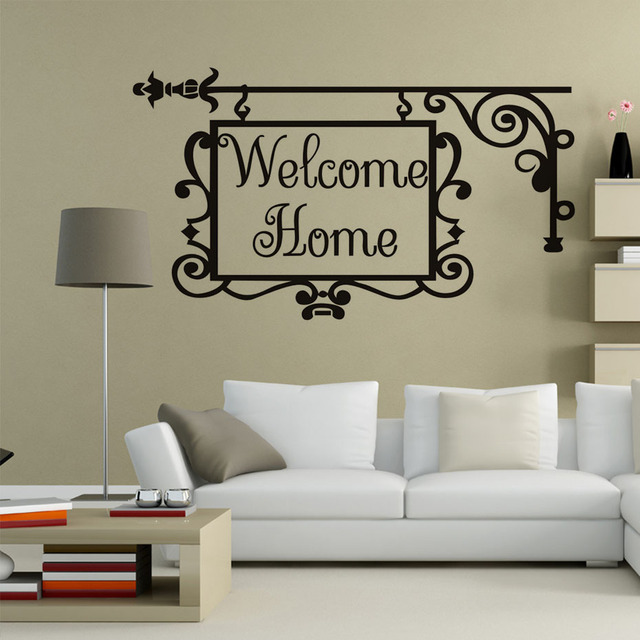 welcome home door decorative wall stickers self adhesive living room