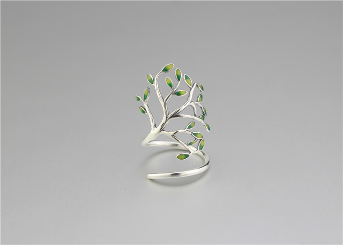 geekoplanet.com - 925 Sterling Silver Tree of Life Open Ring