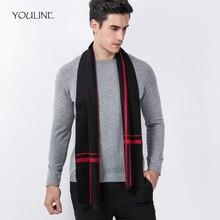 12aa78e901a1 YOULINE Hiver écharpe hommes rayé cachemire écharpe mâle marque châle wrap  Laine bufandas Rayé écharpe avec