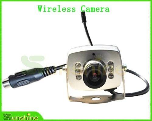 Gros le plus bas prix 2.4 G sans fil 6 LED infrarouge CMOS couleur CCTV caméra, Livraison gratuite