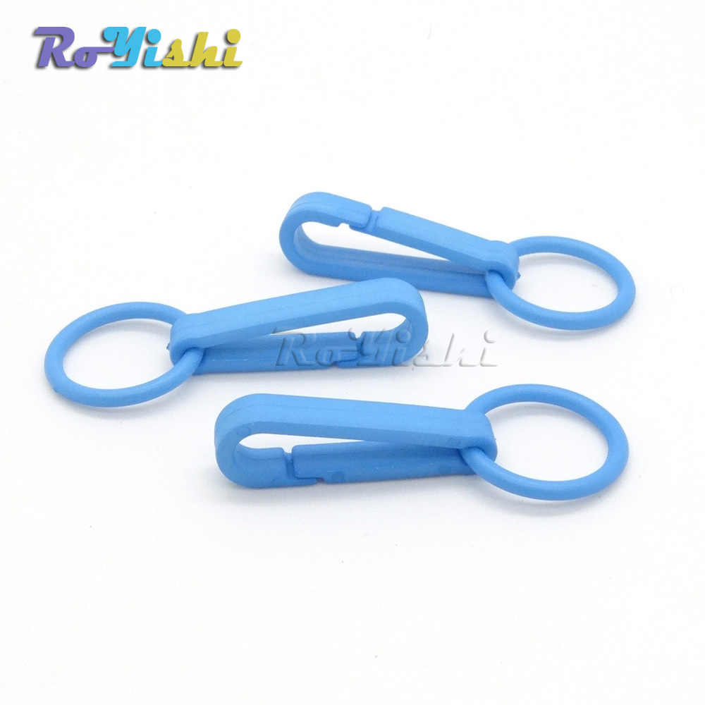 ... 12pcs pack Colorful Gloves Hook Plastic Buckles Snap Hook With O-Ring  Used For 9f1e650e40be9