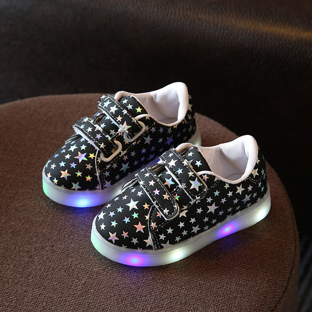 7dcffaad2b0fcc Kinder jungen mädchen led leucht shoes klett beiläufige flache shoes led kinder  turnschuhe 3 farbe baby