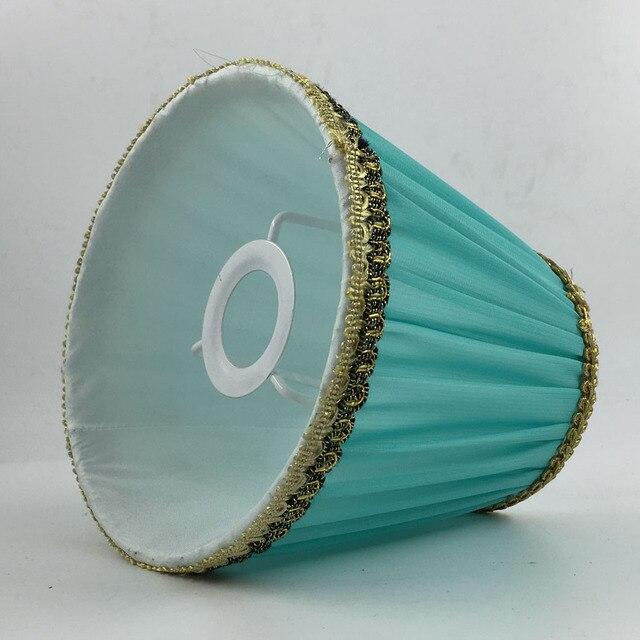 Tissu Abat Jour dia 14.5 cm new light bleu couleur abat jour tissu abat jour e14