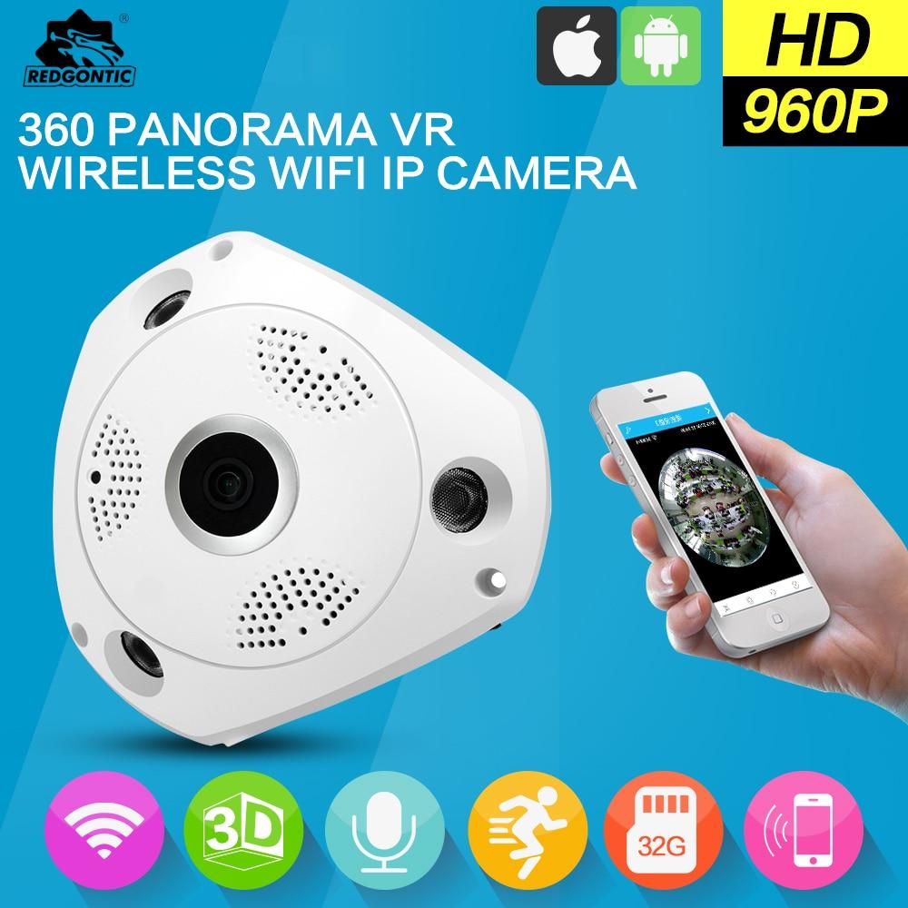 IP camera HD WiFi 360 VR Panoramic 1.3MP Fisheye ip surveillance camera Night Vision Cam wifi surveillance camera цена