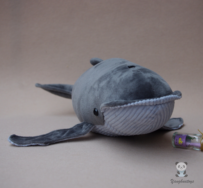 Stuffed Toy Super Soft Baleen Whale Doll Children'S Toys Plush Simulation Marine Animals Humpback Doll one piece huge plush simulation black killer whale toy new whale pillow doll gift about 120cm