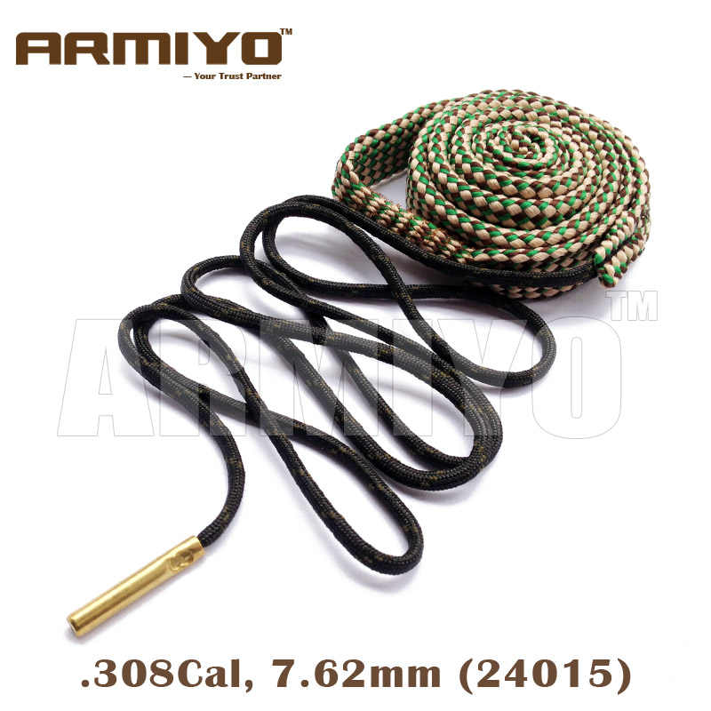 Armiyo 7.62mm. 30Cal. 308. 30-06 Cal Gun Borstel Boring Touw Barrel Cleaning Sling AK Cleaner Tactical Hunting Accessoires 24015