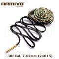 Armiyo 7 62 мм. 30Cal .308 .30-06 Cal Gun Brush  веревка  ствол  мойка  слинг  очиститель  тактические охотничьи аксессуары 24015