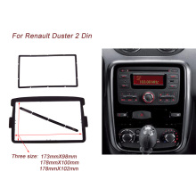 2 DIN Car Frame Panel Fascia for Renault Duster 2012+ Autostereo Adapter CD Trim Panel Stereo Interface Radio In Dash Mount Kit double din radio fascia for nissan 370z 2009 2012 facia frame panel dash mount kit adapter trim kit surrounded frame