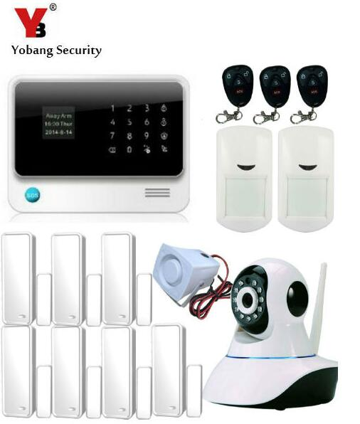 Yobang Security wifi GSM Home Security Alarm System,GSM Alarm System Wth Wifi Function,Alarm System With IP Camera
