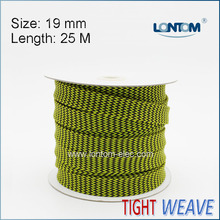 Tightly Weave 19mm 25M length black and yellow for Extra Coverage Protection