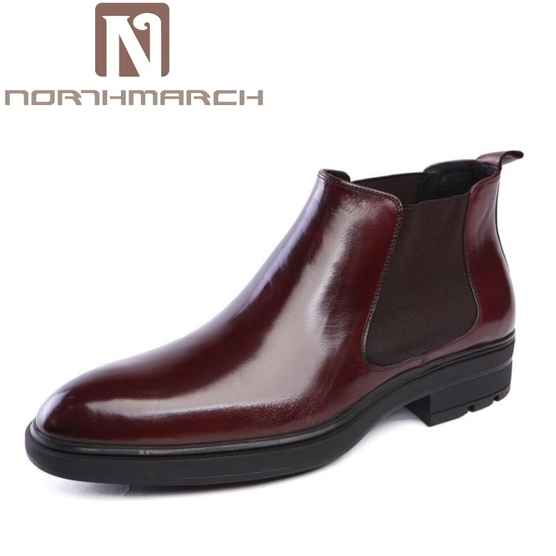 NORTHMARCH Luxury Famous Men Winter Boots Quality Genuine Leather Boots Men Business Slip On Shoes Ankle Boots tenis masculino mycolen luxury famous men winter boots quality genuine leather boots men business slip on shoes men ankle boots tenis masculino