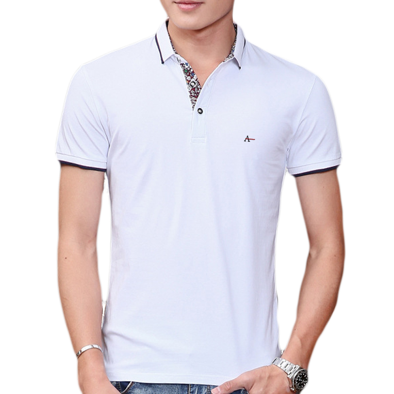 Fashion Clothing New   Polo   Shirt Men 100% Cotton Business Casual Stripes Shirt Short Sleeve Cotton Camisa Aramy Colcci Sergio K