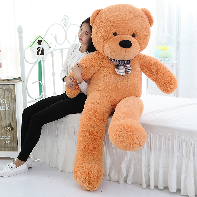 цены Wholesale 200cm Big Size Classic Teddy Bear Plush Skin High Quality Low Price Bear Coat Birthday Gift Valentine Gift For Girls