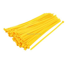 8mm x 350mm Self Locking Nylon Cable Ties Heavy Industrial Wire Zip Ties Yellow 100pcs 100pcs white self locking cable tie high quality nylon fasten zip wire wrap strap 2 5x100mm 2 5x150mm plastic
