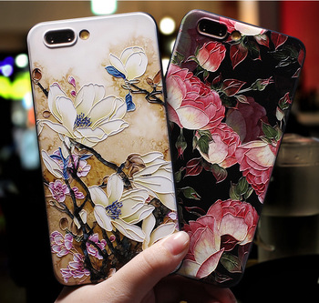 3D Print Emboss Flower Soft Phone Cases For iPhone