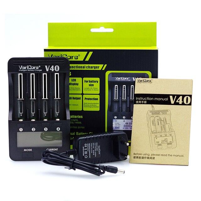 New VariCore V40 LCD Battery Charger for 3.7V 18650 26650 18500 16340 14500 18350 lithium battery 1.2V AA / AAA NiMH batteries