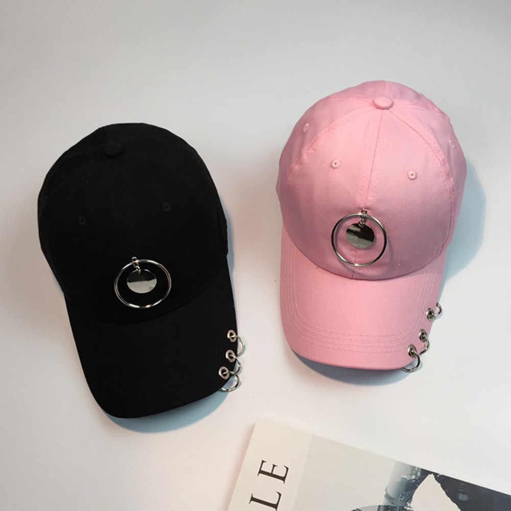 Womail czapka z daszkiem nowy Unisex para metalowy pierścień Unisex Snapback Hip Hop kapelusz czapka kapelusz z możliwością regulacji sportowe na świeżym powietrzu 2019 dropship f23