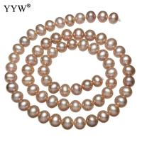 YYW Cultured Potato Freshwater Pearl beads jewelry making beads bulk beads bulk bead 2014 fashion women natural purple