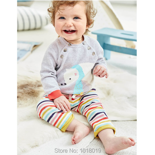 High Quality New 2017 Brand 100% Cotton Baby Girls Clothing Sets Children Suit Kids Long Sleeve Clothing Sets Baby Girls Outwear
