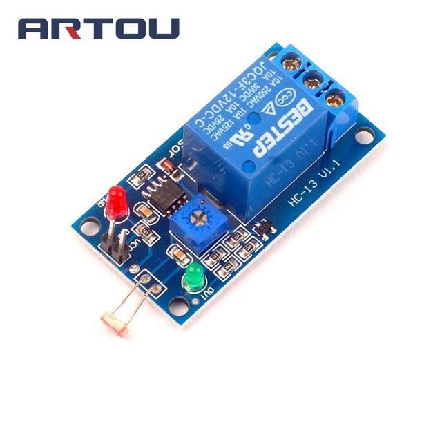 1PCS 12V LDR Photosensitive Sensor Module Light Switch Photosensitive Relay Module