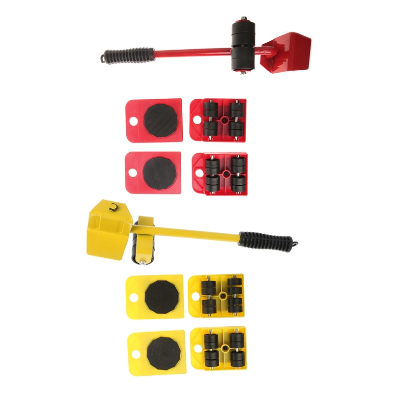 5pcs Furniture Transport Roller Set Removal Lifting Moving Tool Heavy Move House Skillful Manufacture