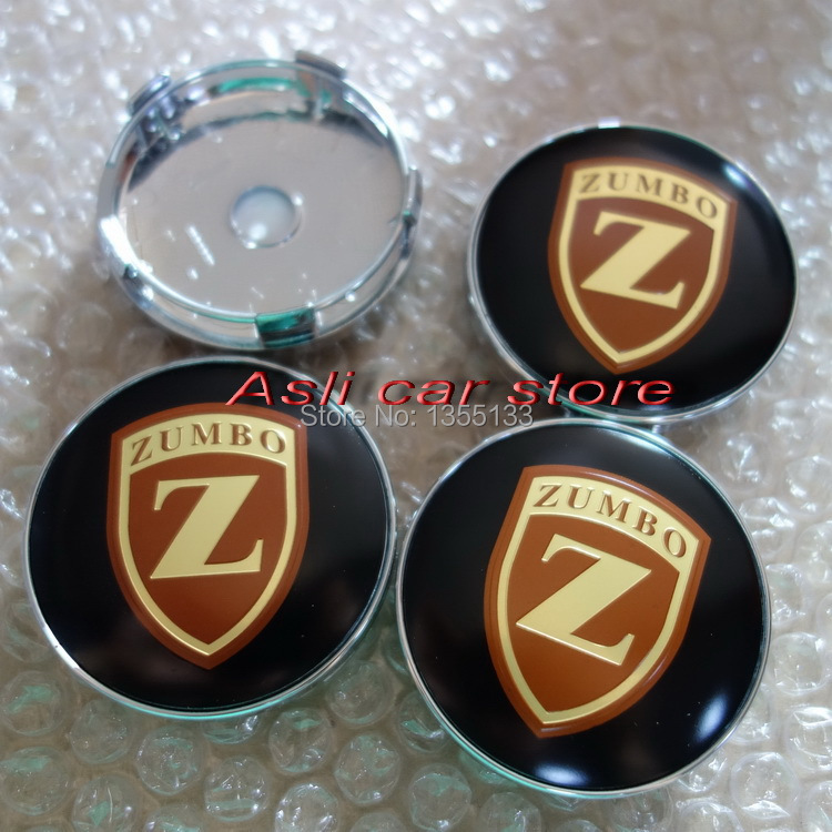Zumbo Wheels 60mm Wheel Center Cover emblem Badge sticker Gold emblem emblem