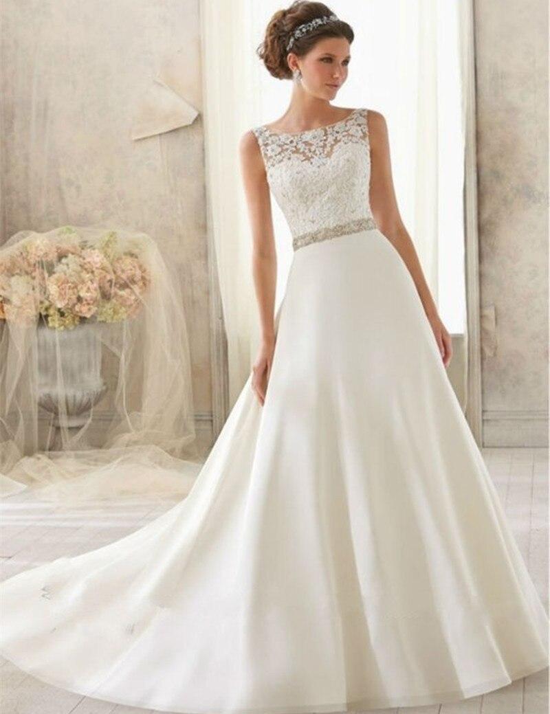handmade wedding dresses price handmade wedding dresses Backless A Line White Lace Wedding Dresses With Crystal Sash Plus Size Women Wedding Gowns
