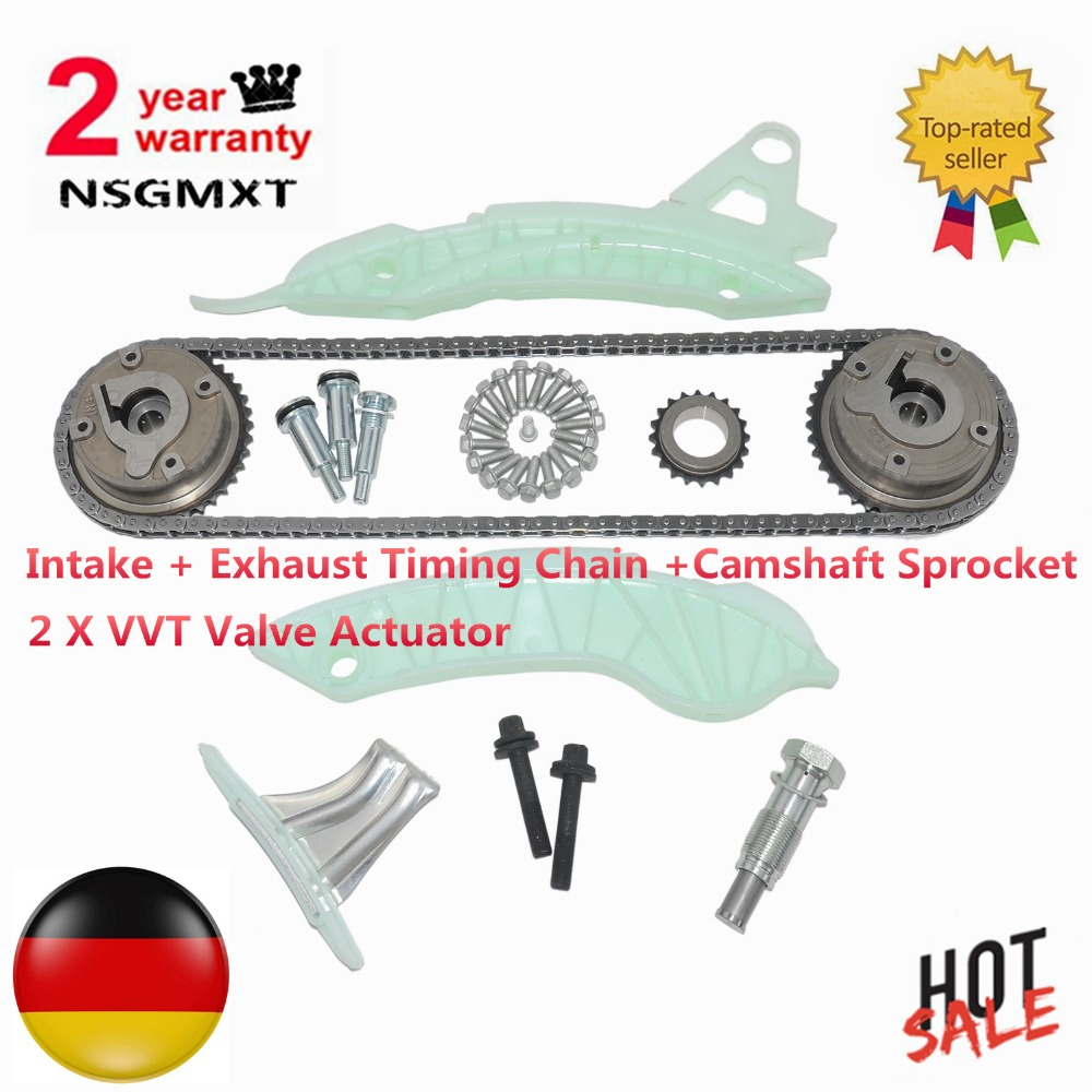Timing Chain +Camshaft Sprocket With 2x VVT Valve Actuator