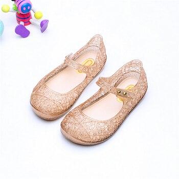 buy popular 0afdd e114f Melissa garten Kristall Schuhe 2019 mädchen sandalen Mesh Loch Schuhe  Mädchen Melissa Sandalen Gelee Schuhe Sandalen Schuhe Für Mädchen