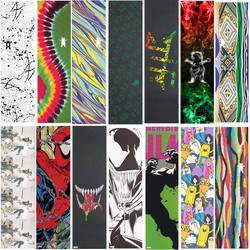 9*33 Inches Grizzly Laest design Pro Skateboard Griptapes Silicon Carbide Skate Grip Tape with Air Holes Scooter Sandpaper