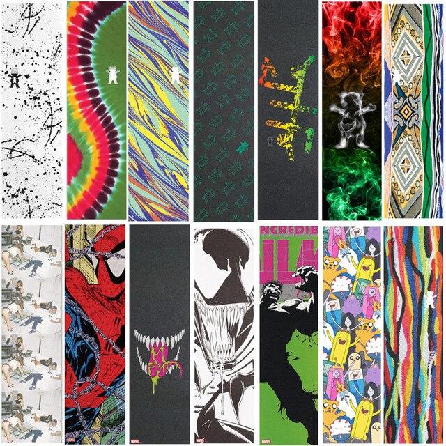 9*33 zoll Grizzly Läst design Pro Skateboard Griptapes Silicon Hartmetall Skate Grip Band mit Luft Löcher Roller Schleifpapier