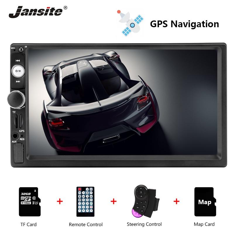 Jansite 7 1080P Car Radio DVD GPS MP5 player For suzuki sx4 Touch screen mirror 2din car autoradio with Steering wheel controls