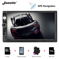 Jansite 7 1080P Car Radio DVD GPS MP5 player For suzuki sx4 Touch screen mirror 2din car autoradio with Steering wheel controls