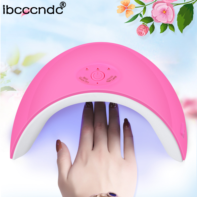 New 36W LED Lamp for Nails UV Lamp Nail Dryer Gel Polish Curing Lamp for Manicure Gel Varnish Dryer Machine Nail Art Salon Tools f11088 walkera camera mount g 3dh brushless gimbal with 360 degrees tilt control