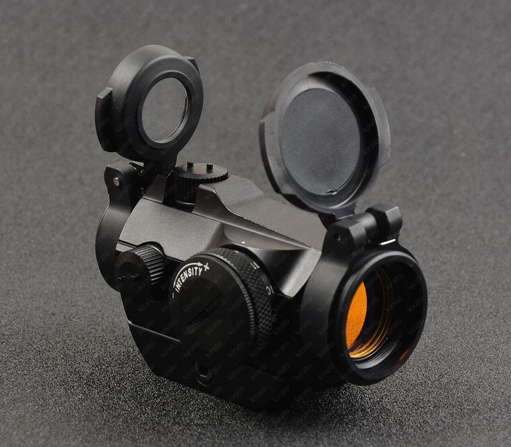 Chasse tactique micro 1x red dot sight portée avec 20mm picatinny rail mount base lens cover antichoc bk R7482