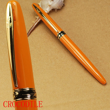 CROCODILE 215  Fine nib orange fountain pen cayman mouth free shipping