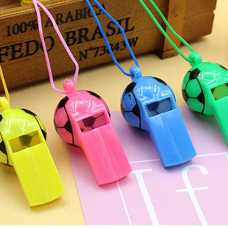 Kind Plastic Sporten Zoals Sound Whistle Pitloze Plastic Fluitje Professionele Voetbal Basketbal Scheidsrechter Fluitje Outdoor Sport