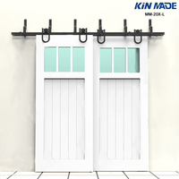 KIN MADE MM-20X-L Hufeisen stil Bypass doppel panel schiebe barn door hardware Kit