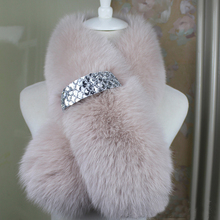 2016 new real Fox fur scarf, warm winter lady fur collar solid color wild