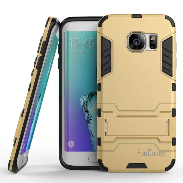 For Samsung Galaxy S7 Edge G9350 Case 5.5inch Dual Layer Hybrid Rugged Armor Hard PC+TPU Shockproof With Kickstand Cover Cases
