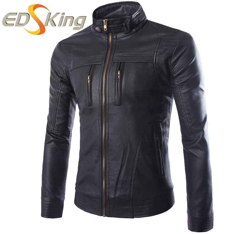 Aliexpress.com : Buy Motorcycle Leather Jackets Men Washed PU Dark ...