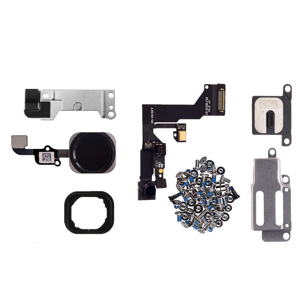 7pcs/set lcd parts For iphone 6 6s Plus LCD Front Camera Home button flex cable Ear Speaker with bracket and full set screws image