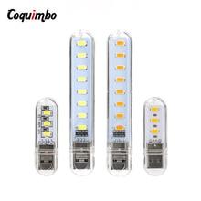 2 шт./упак. мини USB светодиодный светильник Ночной светильник Кемпинг лампы для чтения ноутбук компьютер Тетрадь мобильный Мощность Зарядное устройство теплые светильник