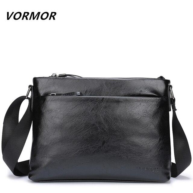 VORMOR Brand Casual Messenger Bags Men s Leather Shoulder Crossbody Bag  Business Satchel Men Messenger Bags 95be385bff