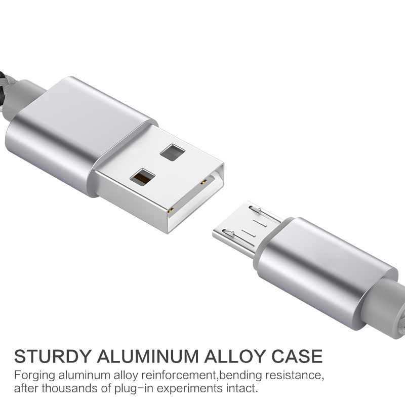 Cable Micro USB Cable de carga rápida adaptador de cargador de teléfono Cable de datos para Samsung Xiaomi Huawei HTC SONY Android carga Microusb