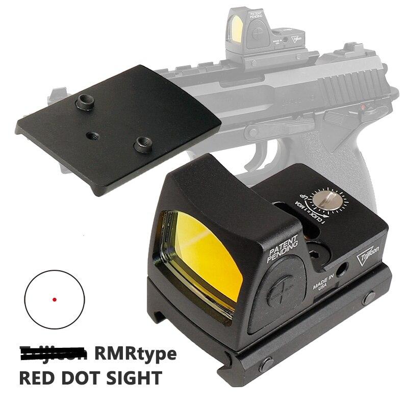 Airsoft Tactique Mini RMR Reflex Red Dot Sight 3.25 MOA Portée Glock Fusil Scopes Pistolet À Air Tir Chasse Accessoires