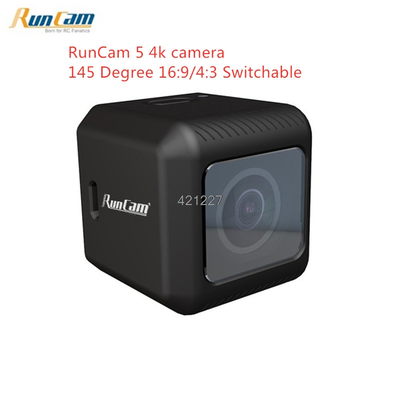 Nova RunCam 5 12MP Menor 4 K Cam Gravação HD 145 Graus NTSC/PAL 16:9/4:3 Selecionável FPV câmera de ação para RC rone