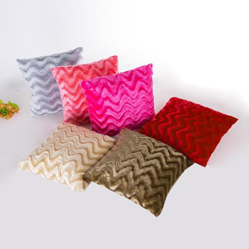 solid soft plush faux fur wholesale decorative cushion cover throw pillows for sofa car chair hotel